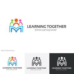 People logo,education logo,vector logo template