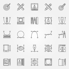 Design icons vector set