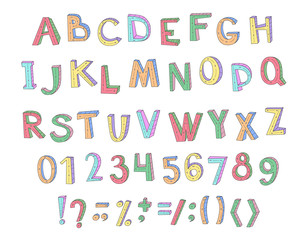 Colorful children ABC for your design.