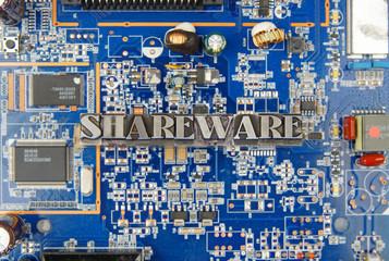 Shareware / caracteres d'imprimerie en plomb