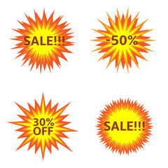 Sale Explosion icons