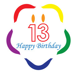 13 happy birthday