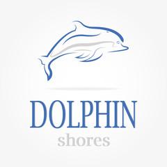 dolphin logotype Dolphin shores