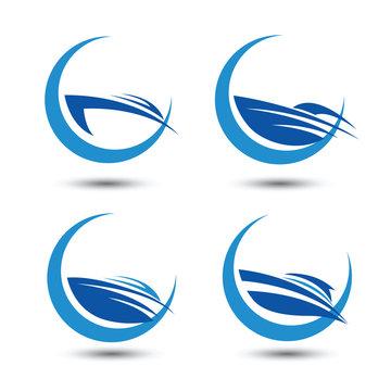 speedboat icon symbol