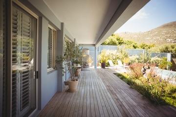 Stylish outdoor patio area