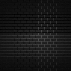Black abstract background. Brick wall texture.