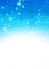水中の背景