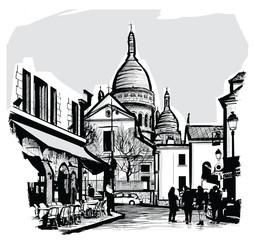 Canvas Prints Art Studio Basilica Sacre coeur in Paris