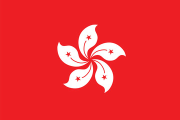 Standard Proportions for Hong Kong Official Flag Fotomurales