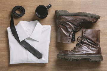 Flat Lay Composition with Hipster Clothes
