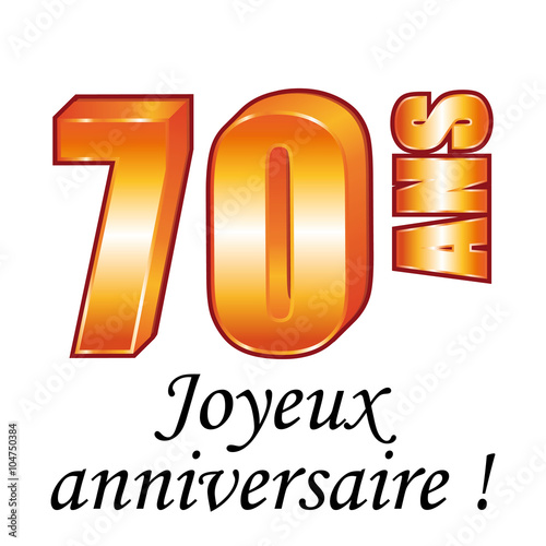 70 Ans Carte De Vœux Joyeux Anniversaire Fichier Vectoriel Libre