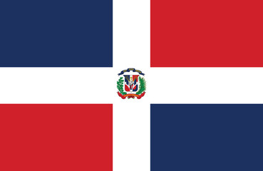 Dominican Republic flag.
