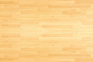 Hardwood maple floor viewed from above