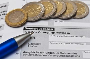 Finanzamt Einkommensteuererklärung