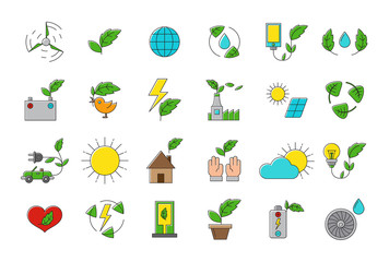 Set of eco vector icons