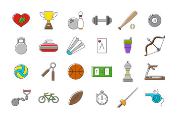Set of sport vector icons
