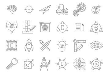 Vector black engineering icons set