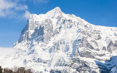 Grindelwald, Bergdorf, Dorf, Alpen, Wetterhorn, Grosse Scheidegg, Schweizer Berge, Winterferien, Wintersport, Berner Oberland, Winter, Schweiz