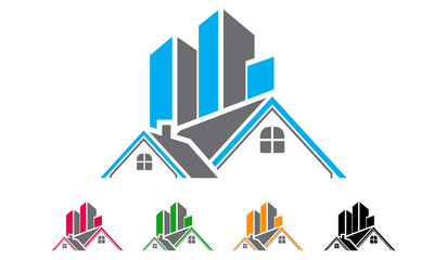 real estate, building, house, property, home logo design - Buy ...