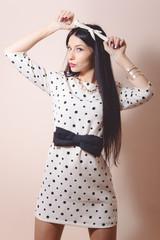 Brunette glamour beautiful pinup woman
