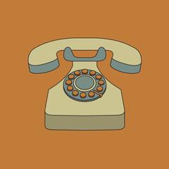 object retro telephone, old rotary phone