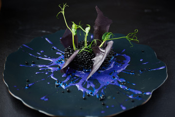 Risotto with cuttlefish ink and black caviar