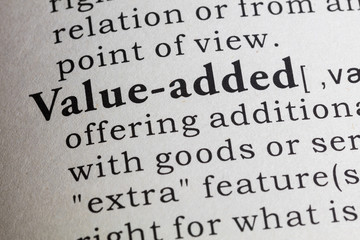 Wall Mural - definition of value-added