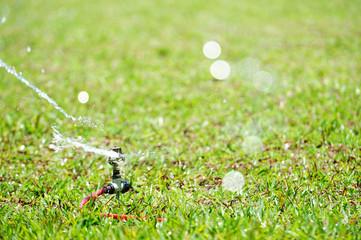 close up of water sprinkler