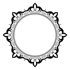 Decorative, unusual, round frame with empty place for your text.