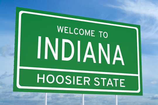 Welcome to Indiana state road sign