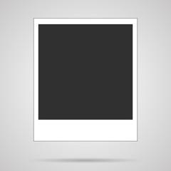 Vector blank polaroid card on white