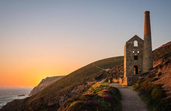 Tin Mine At St. Agnes, Cornwall, England