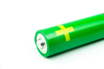 AA Battery on white background