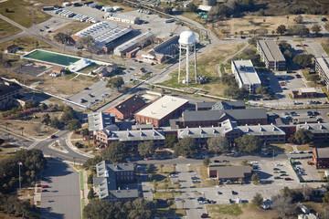 aerial shopping center at Parris Island, South Carolina