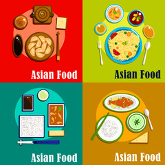 Indian, chinese, thai and korean cuisine