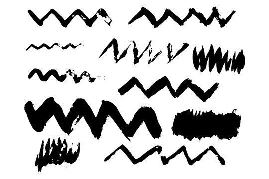 Zigzag Paint Brush - Abstract Grunge
