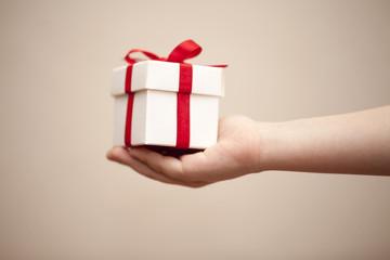 Gift Box In Children Hands