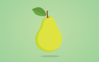 pear green isolated illustration with greens background
