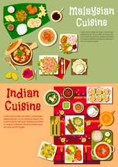 National indian and malaysian cuisine