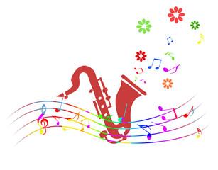 楽器と五線譜