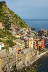 Fototapete - Stunning view of resort village Vernazza, Cinque Terre, Italy