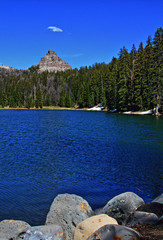 Wind River Lake on Togwotee Pass in Wyoming USA