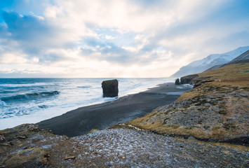Remote Beach in Iceland