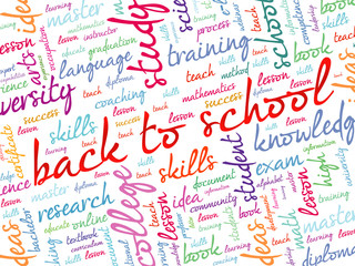 Back to School word cloud, education concept background