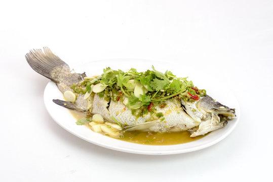 lemon steamed snapper fish