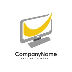 Computer logo icon Vector