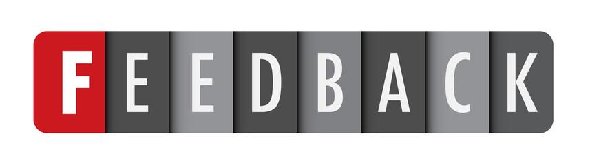 FEEDBACK Vector Letters Icon