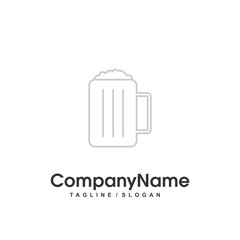 drink tent logo icon Vector