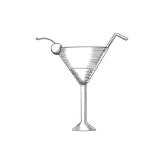 Cocktail Glass Illustration