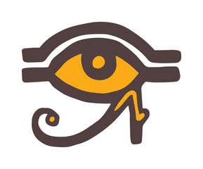 Egypt God Ra vector symbol hand drawn set.